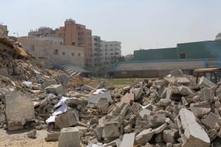 Fotballstadioen på Gaza har blitt bombet sønder og sammen av Israel - to ganger. Sist var i 2012.