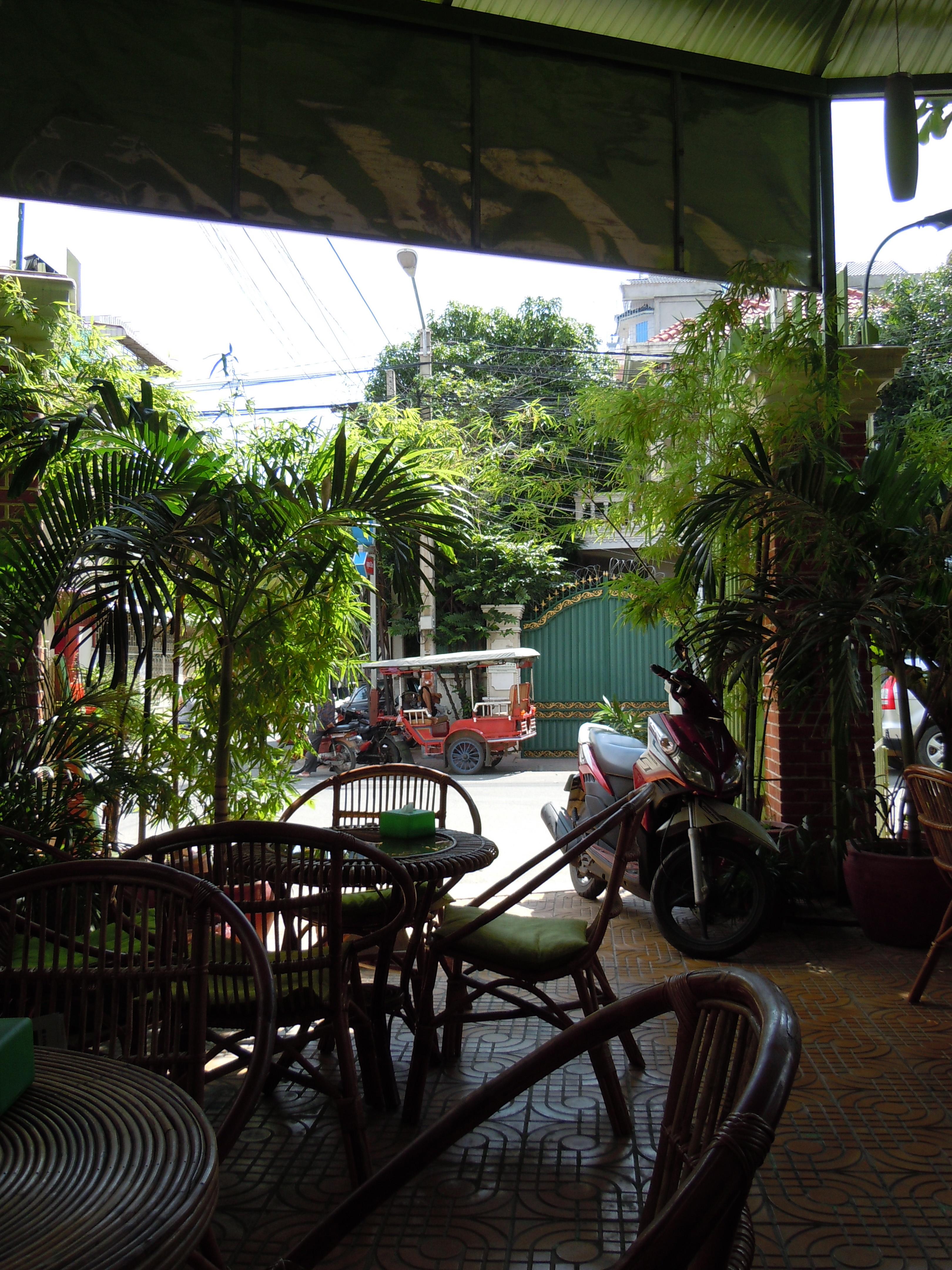 Kafe i Phnom Penh
