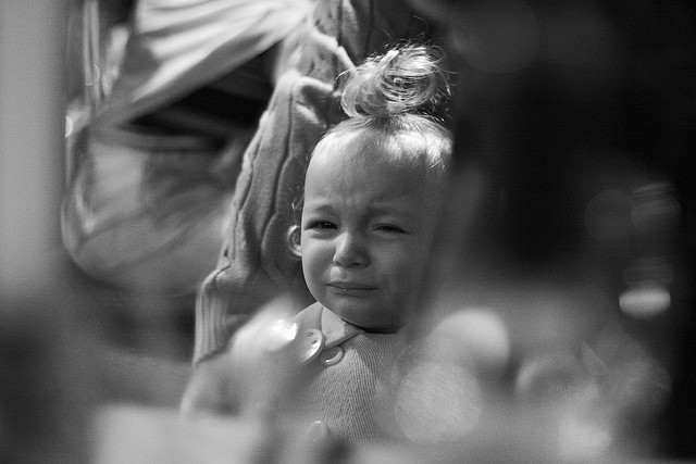 gråtende barn
