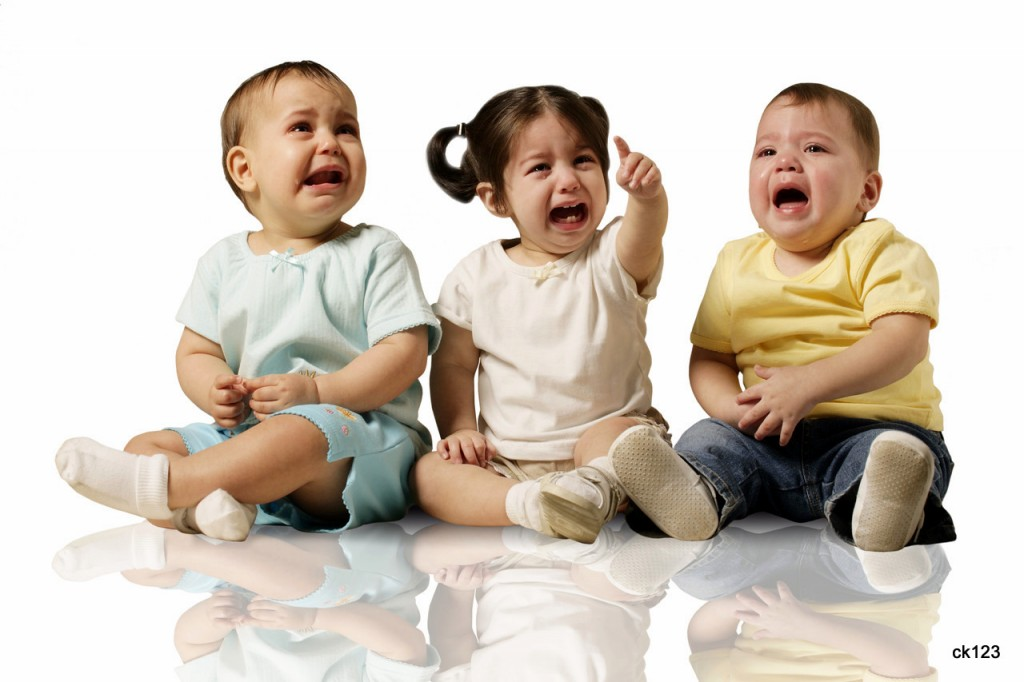 06 Oct 2005 --- Babies Crying --- Image by © Royalty-Free/Corbis