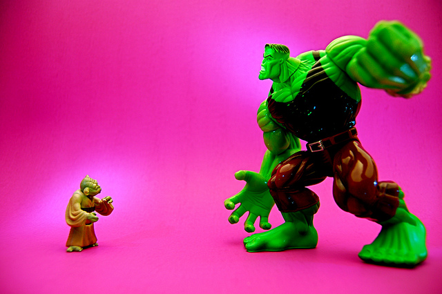 Yoda vs. The Hulk