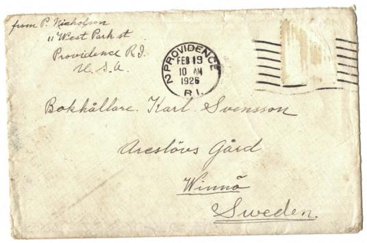 Amerikabrev fra 1926
