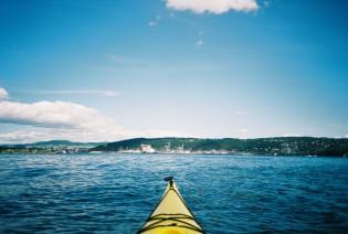 Kajakk utsikt fra Langøyene til byen