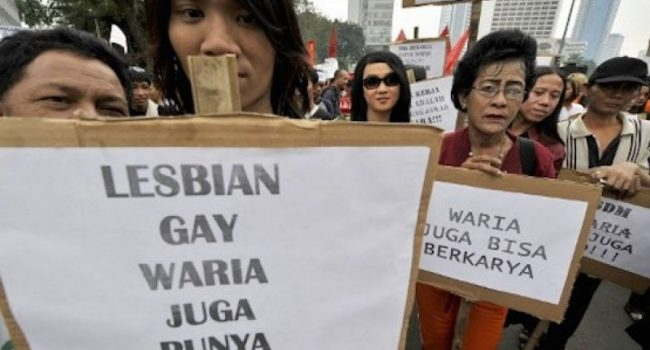 Demonstration in Yogyakarta for LGBT rights