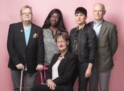 Schyman og de FI's tre andre toppkandidater til Sveriges Riksdag