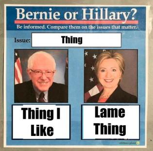 bernie vs hillary meme