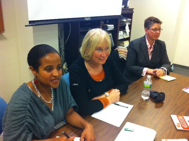 Generalsekretær i WHAE Birikit Terefe, generalsekretær i N.K.S. Anne-Karin Nygård og daglig leder i Fokus (Forum for kvinner og utviklingsspørsmål) Gro Lindstad er foredragsholdere i seminaret . Fokus har gitt økonomisk støtte til arbeidet i Etiopia.